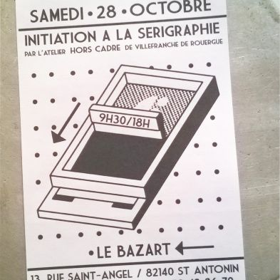 Initiation sérigraphie  papier 28 OCT